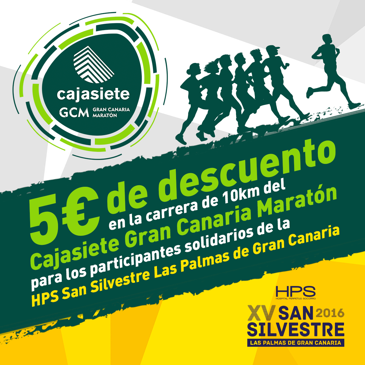 AGREEMENT BETWEEN THE CAJASIETE GRAN CANARIA MARATHON AND THE HOSPITAL PERPETUO SOCORRO SAN SILVESTRE RACE