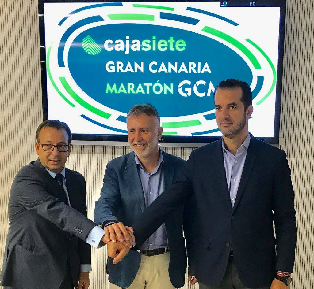 The Gran Canaria Marathon and Cajasiete renew their confidence in each other until 2020
